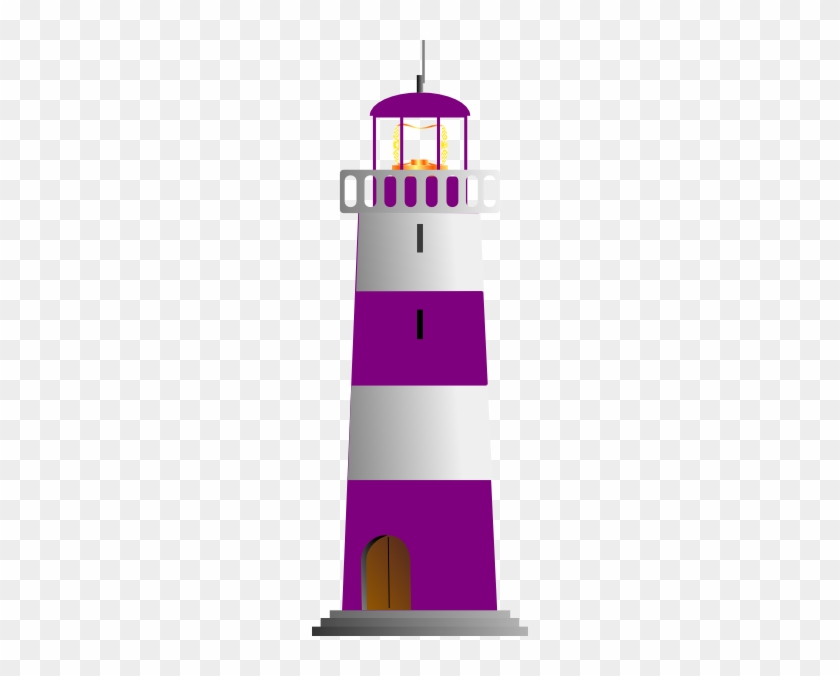 Lighthouse Clipart Purple