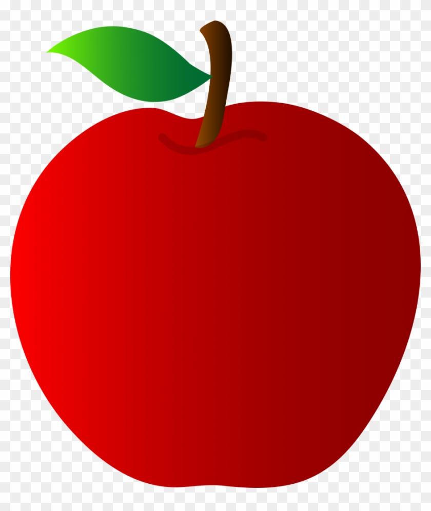 Elma Clipart - Red Apple Clip Art #1013056