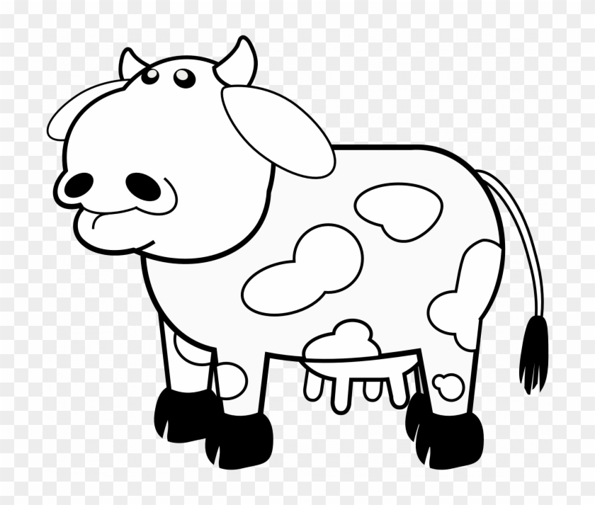 Bw Clipart Cow Pencil And In Color Pin Pictures Of - Outline Of A Cow #1013422