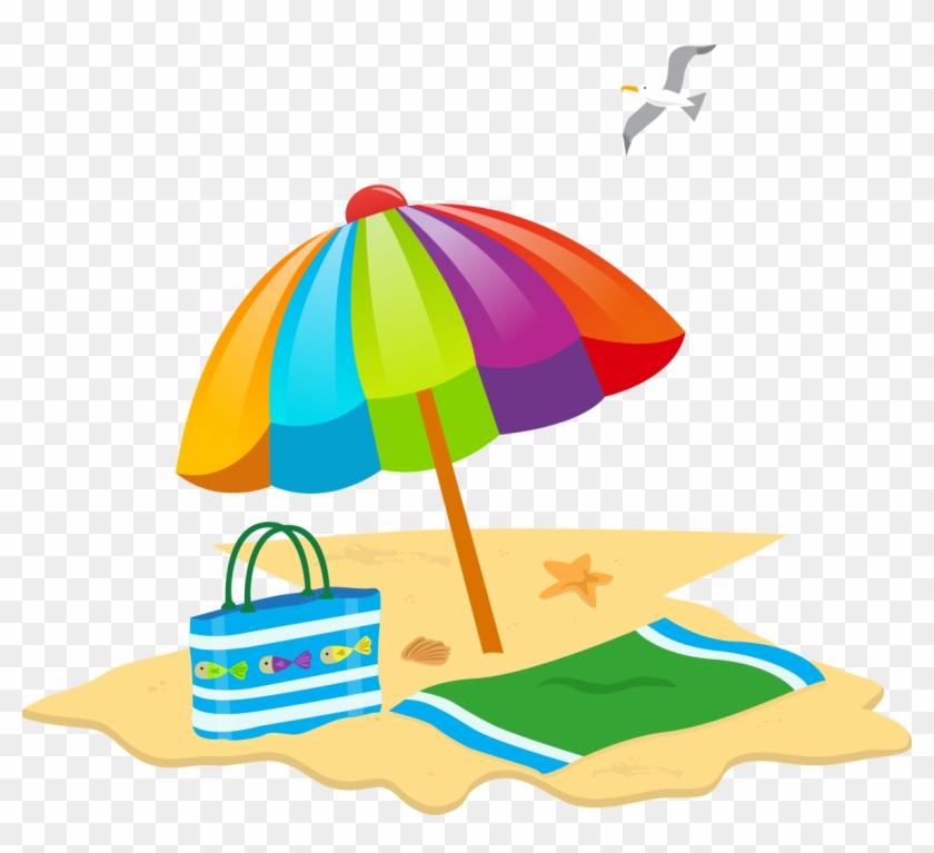 Sunny Beach Summer Beach Day - Guarda Chuva Praia Png #1013605