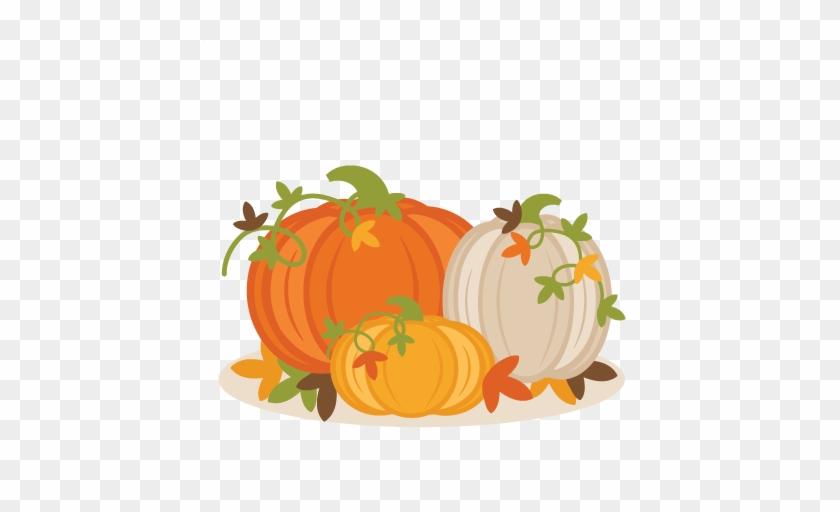 Fall Pumpkin Group Svg Scrapbook Cut File Cute Clipart - Fall Pumpkins Clipart #1013626