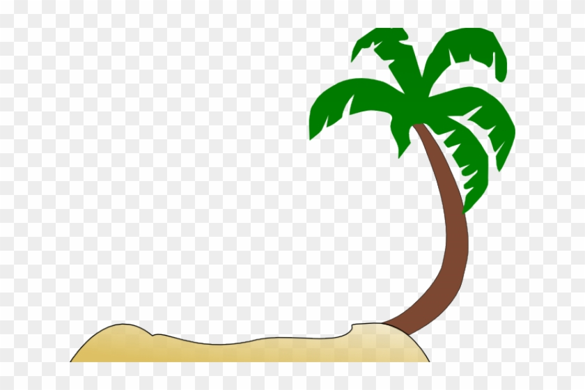 Palm Tree Clipart Tropical Tree - Beach Island Clip Art #1013725