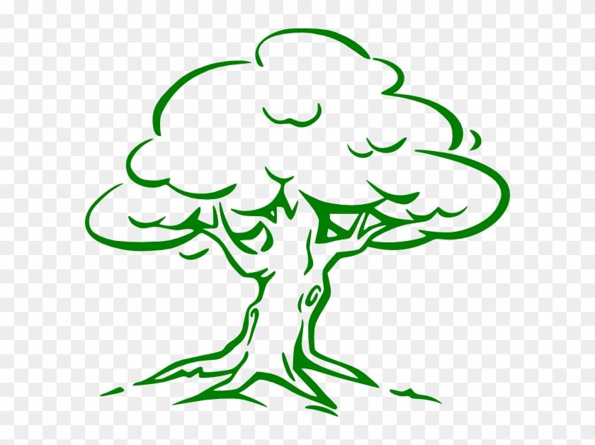 Cartoon Tree Imges Green Oak Tree Clip Art - Oak Tree Drawing Easy #1013857