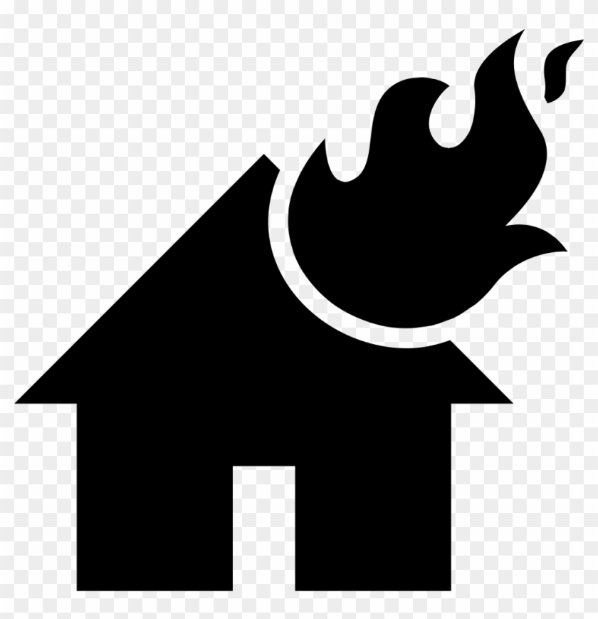 Flames On A Burning House Comments House Fire Icon Png