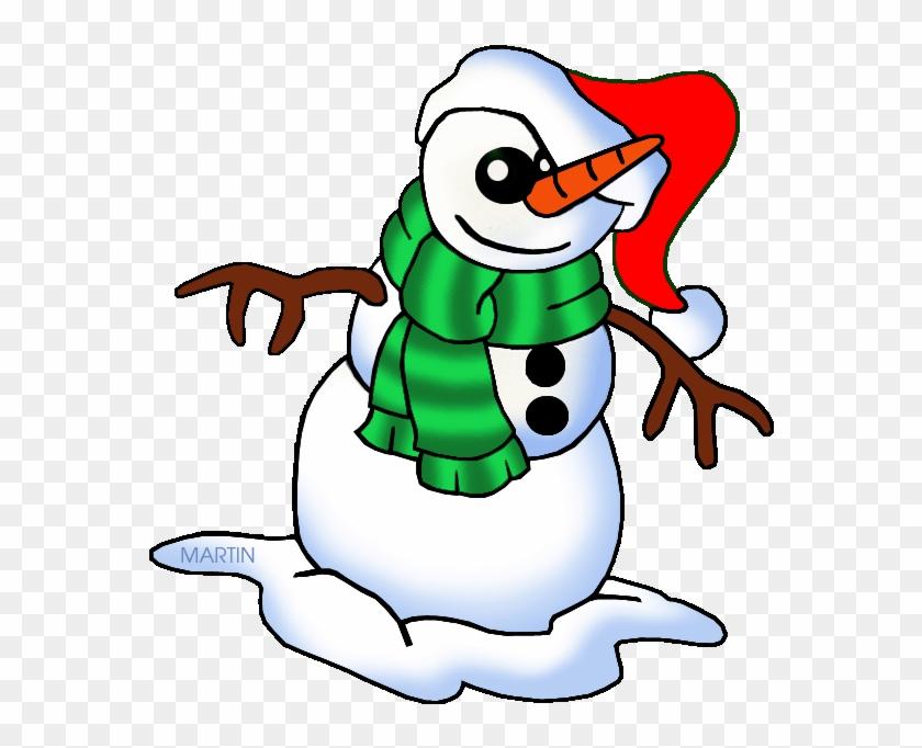 United States Clip Art By Phillip Martin, South Carolina - Christmas Snowman Clip Art #1014025