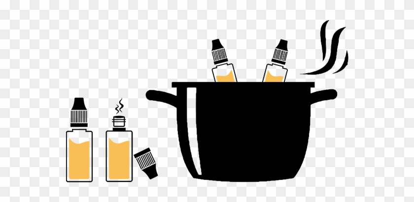 The Method Of Steeping If You Are Resting Your Flavour - Black And White Cooking Pots Clip Art #1014182