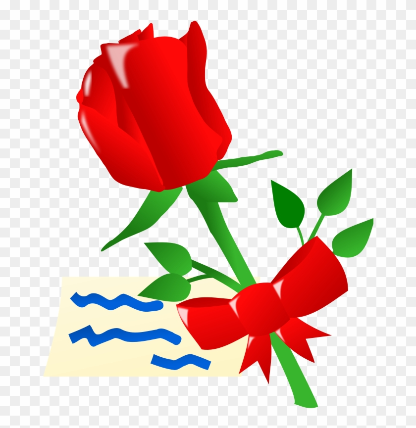 Red Rose Clip Art At Clker Animated Red Rose Flowers Free