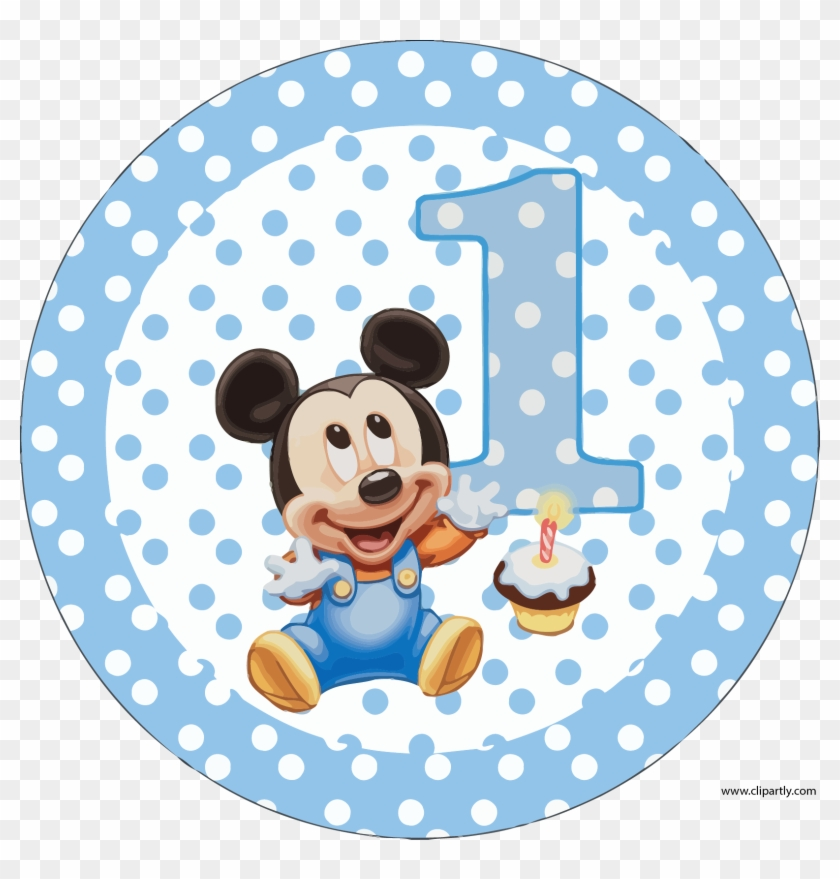 Circle Birthday Mickey Clipart Png Baby Mickey Mouse 1st Birthday