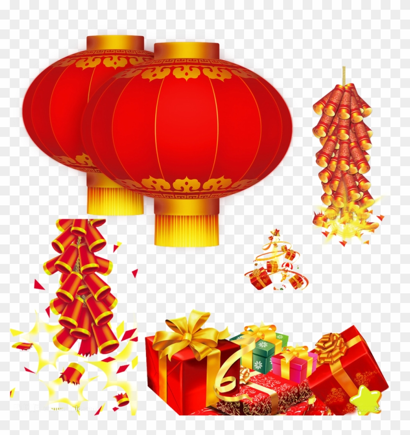 Chinese New Year Lantern Festival Firecracker - Chinese New Year Greeting Card #1014620