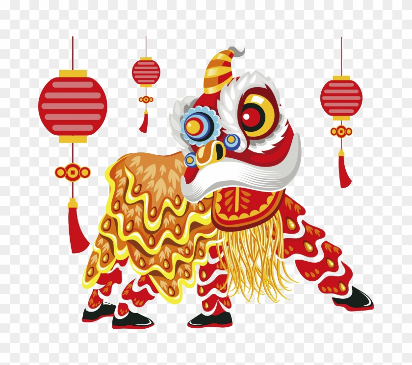 Lion Dance Chinese New Year Illustration - Lion Dance Transparent Clipart #1014623