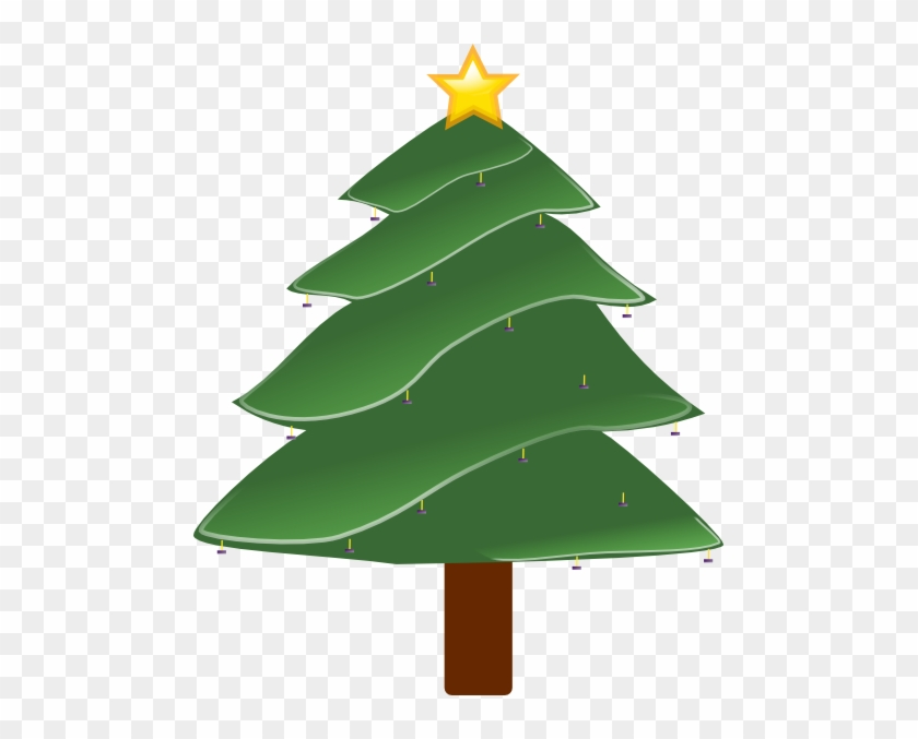 Violet Clipart Christmas Tree - Pine Tree Clip Art #1014659