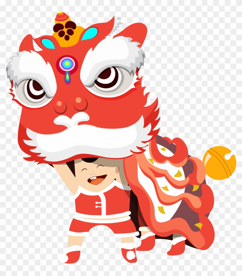 lion dance dragon dance chinese new year lantern festival chinese lion dance png 1014704