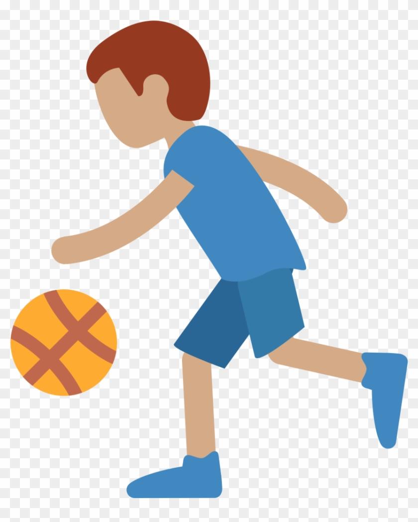 File - Twemoji2 26f9-1f3fd - Svg - Cartoon Girl Basketball Player #1015168