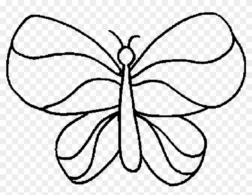 Butterfly With Wings That Simple Coloring Sheet - Free Butterfly Coloring Pages Printable #1015388