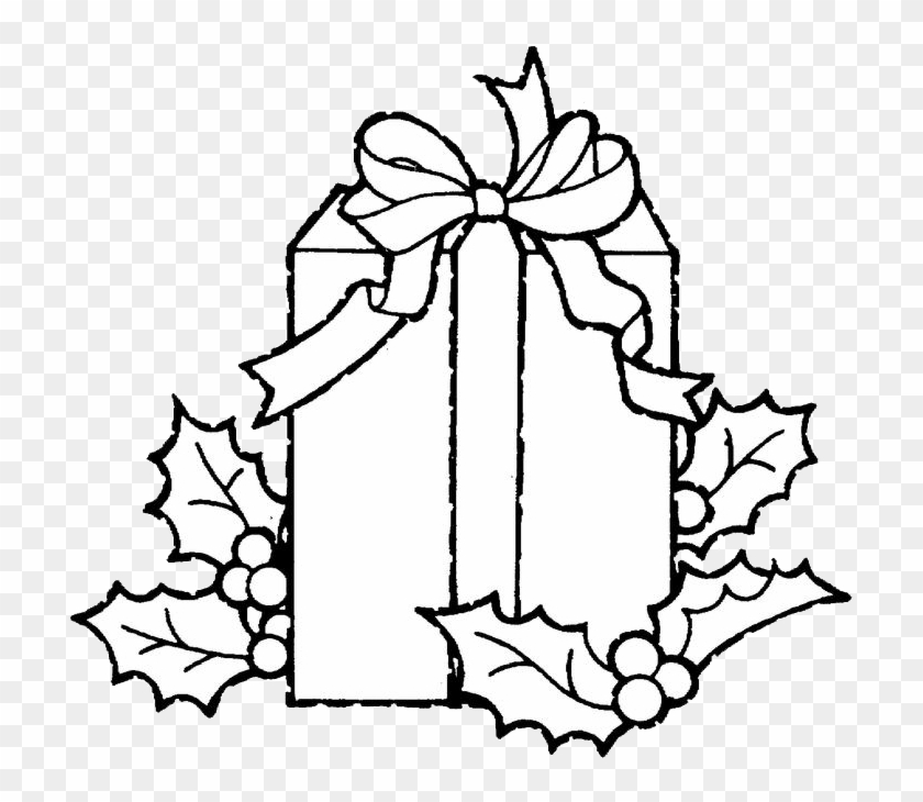 Christmas Gift Coloring Page - Christmas Gifts Coloring Pages - Free ...