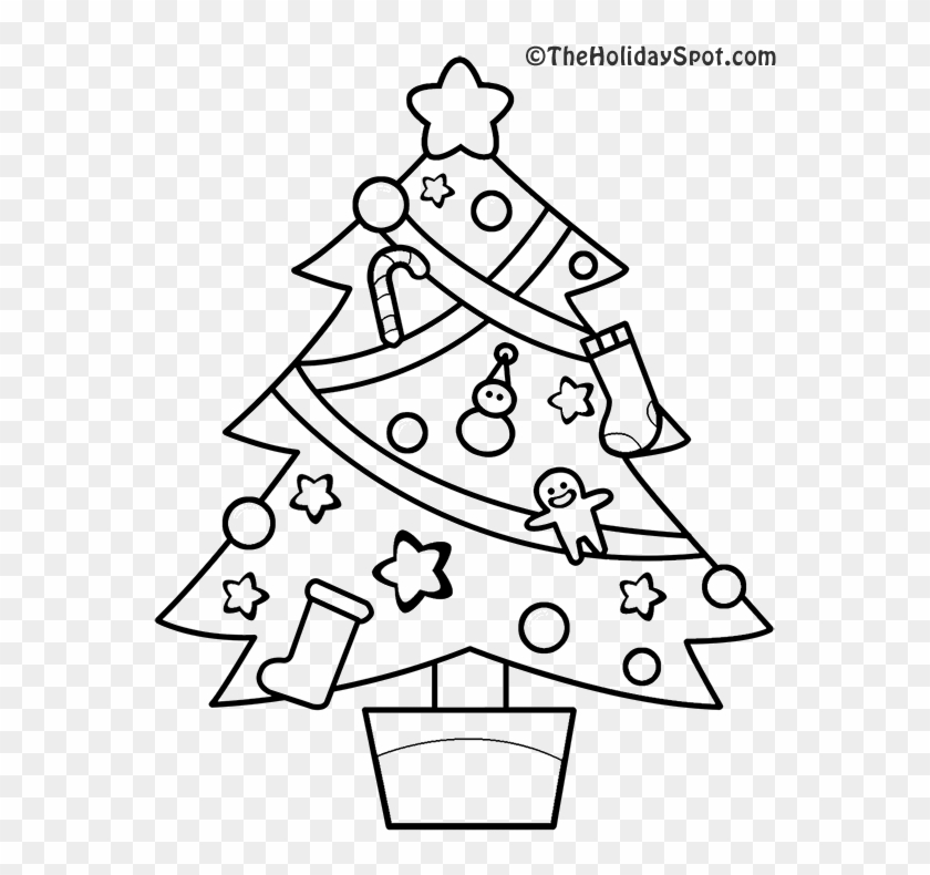 christmas tree coloring picture christmas trees to colouring