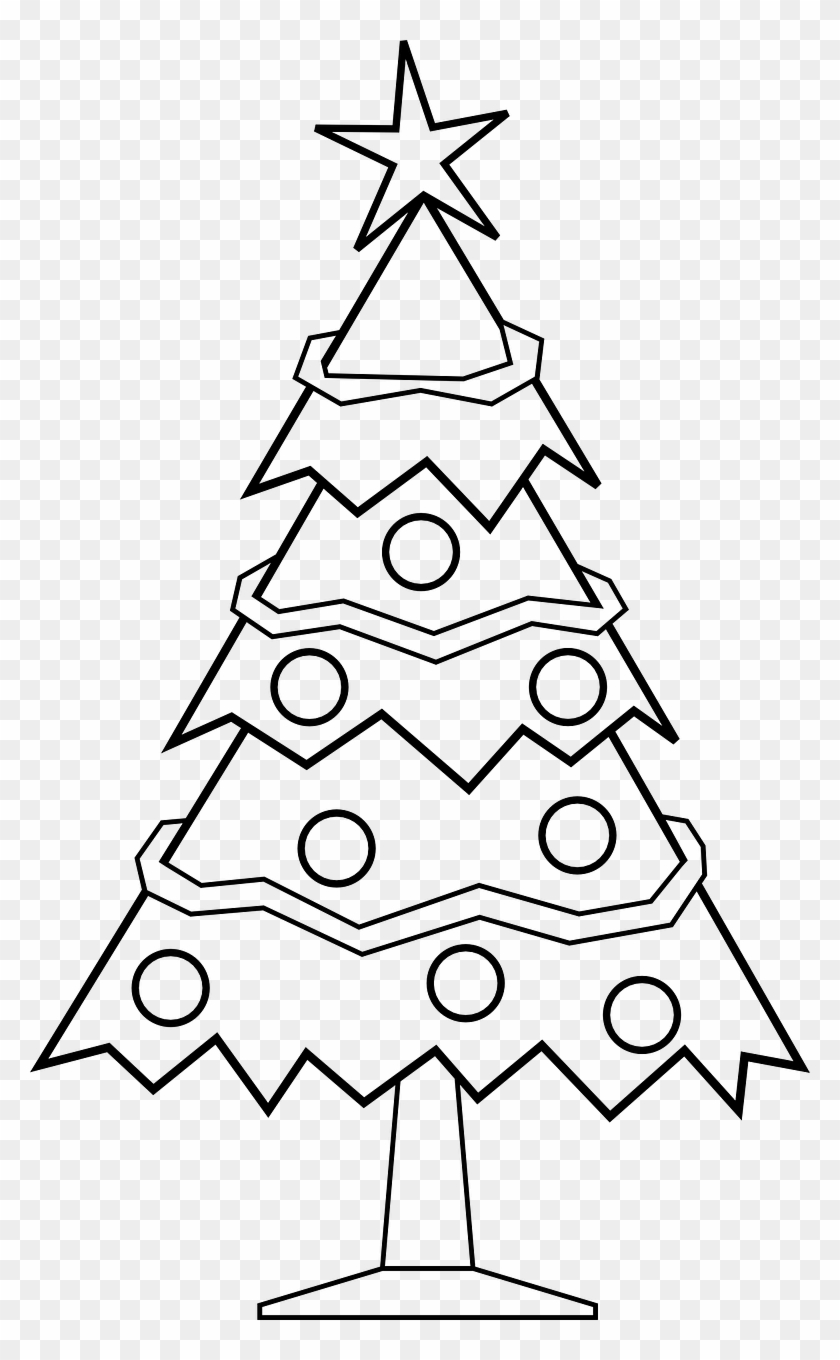 Free Christmas Tree Coloring Pages For Kids - X Mas Tree Black And ...