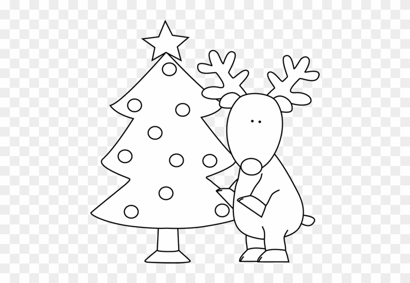 Christmas Tree Clipart Black And White - Christmas Trees Black And White #1016240