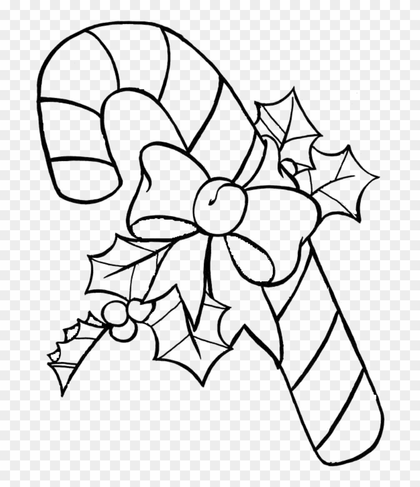 Candy Cane Christmas Coloring Pages - Christmas Candy Cane Coloring Pages #1016251