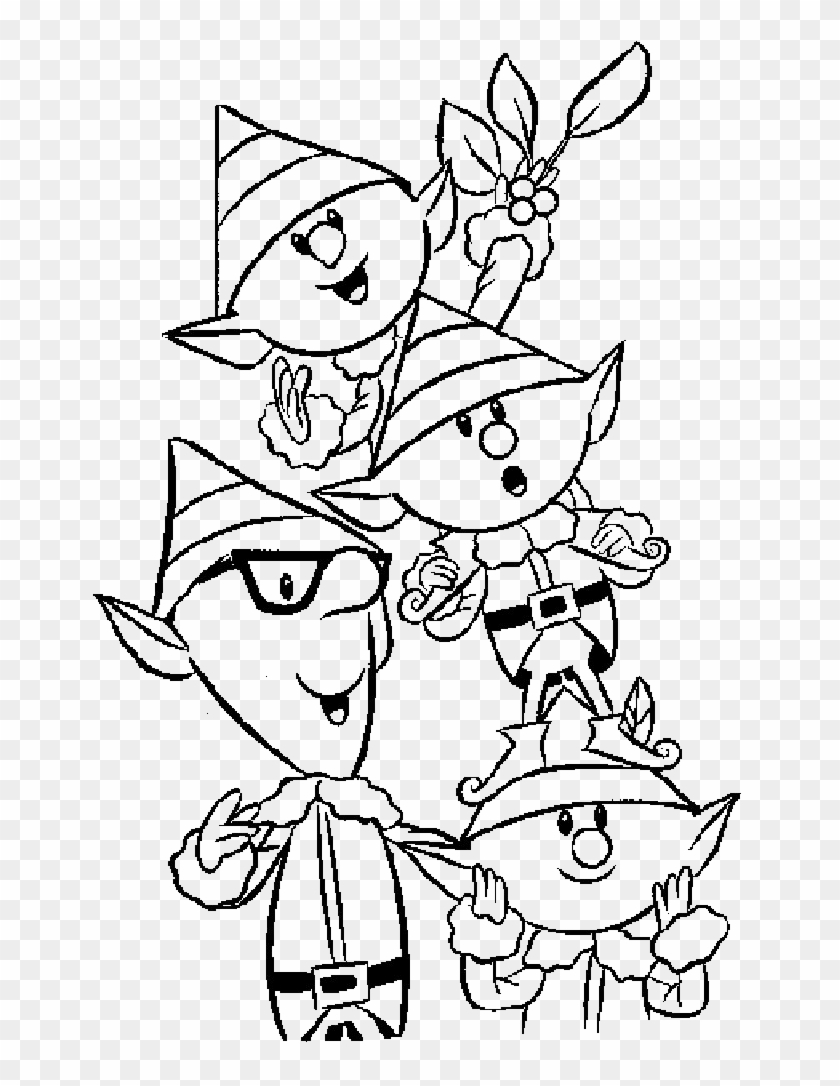 Elf Pictures To Color - Christmas Elf Coloring Pages #1016277