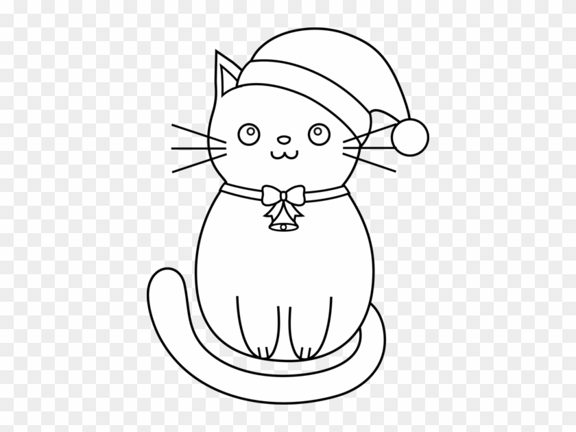 christmas coloring pages cats christmas cat coloring easy cat to draw