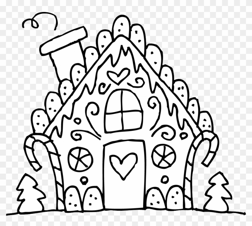 Gingerbread House Coloring Pages For Christmas - Christmas ...
