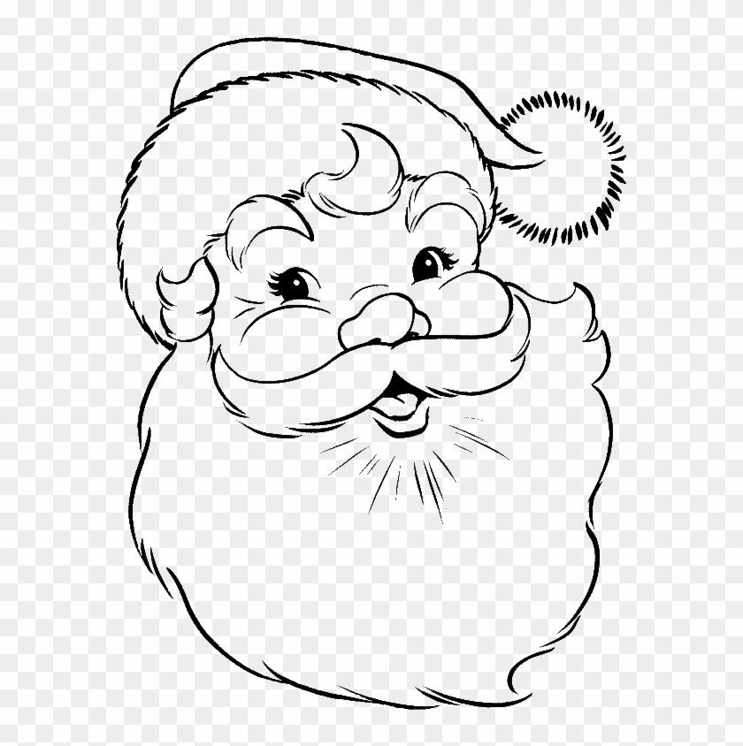 Santa Claus Face Coloring Pages Face Of Santa Claus - Draw Santa ...