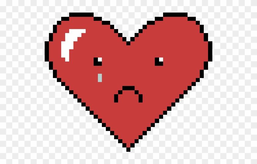 Look At This Sad Lil Heart - Bt21 Cross Stitch Pattern - Free