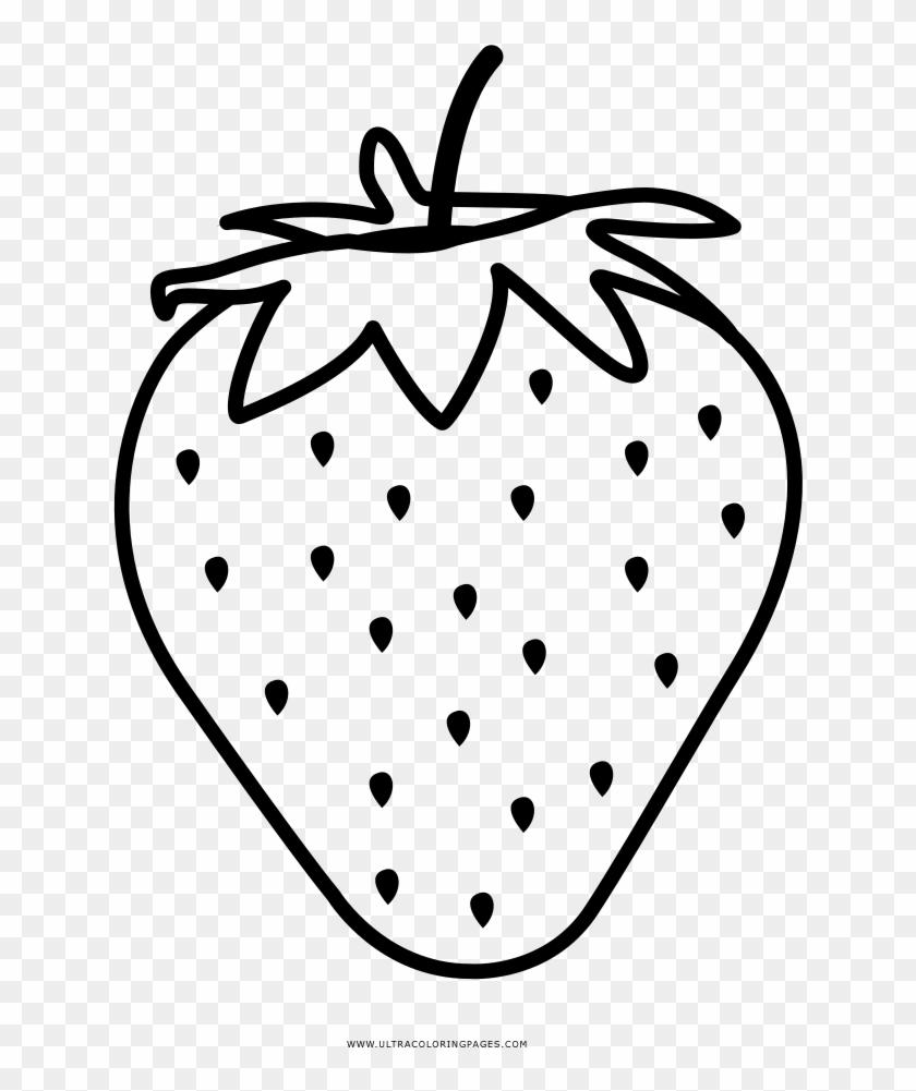Strawberry Coloring Page Morango Desenho Para Colorir Free