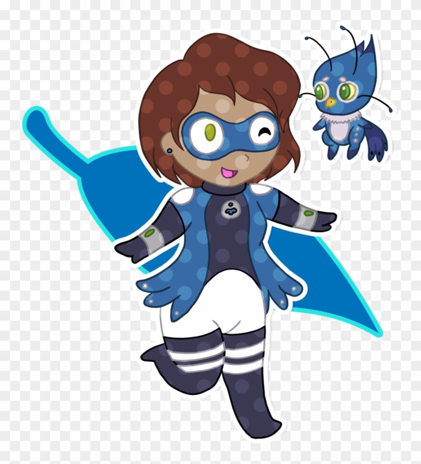 Comm Ml Chibi Blue Jay By Mevrouwroze - Miraculous Ladybug Kwami Blue Jay #1016527