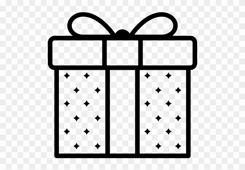 Gift Free Icon - Gift Clipart Black And White Png #1016744
