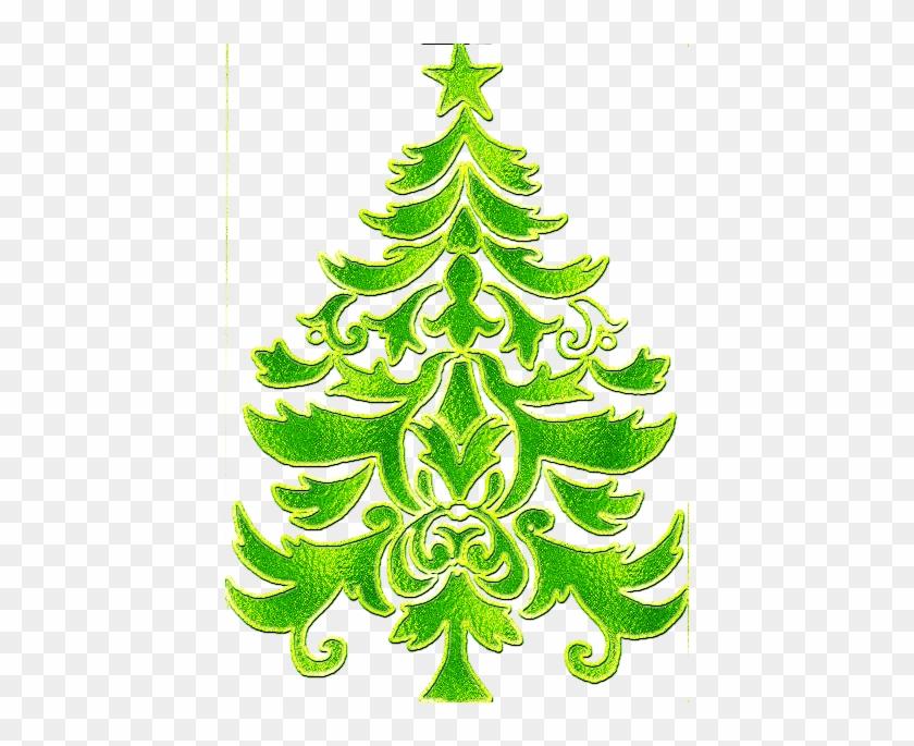 Free Diseos De Arboles De Navidad En Dorado Y Con Luz - Christmas Tree #1016995