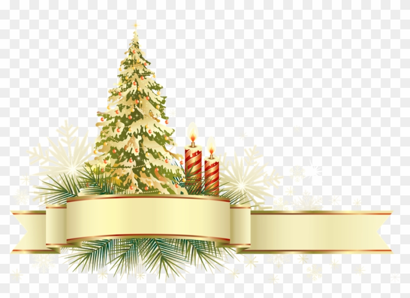 Gold Bow Clipart - Christmas Tree Frame Png - Free Transparent PNG ...