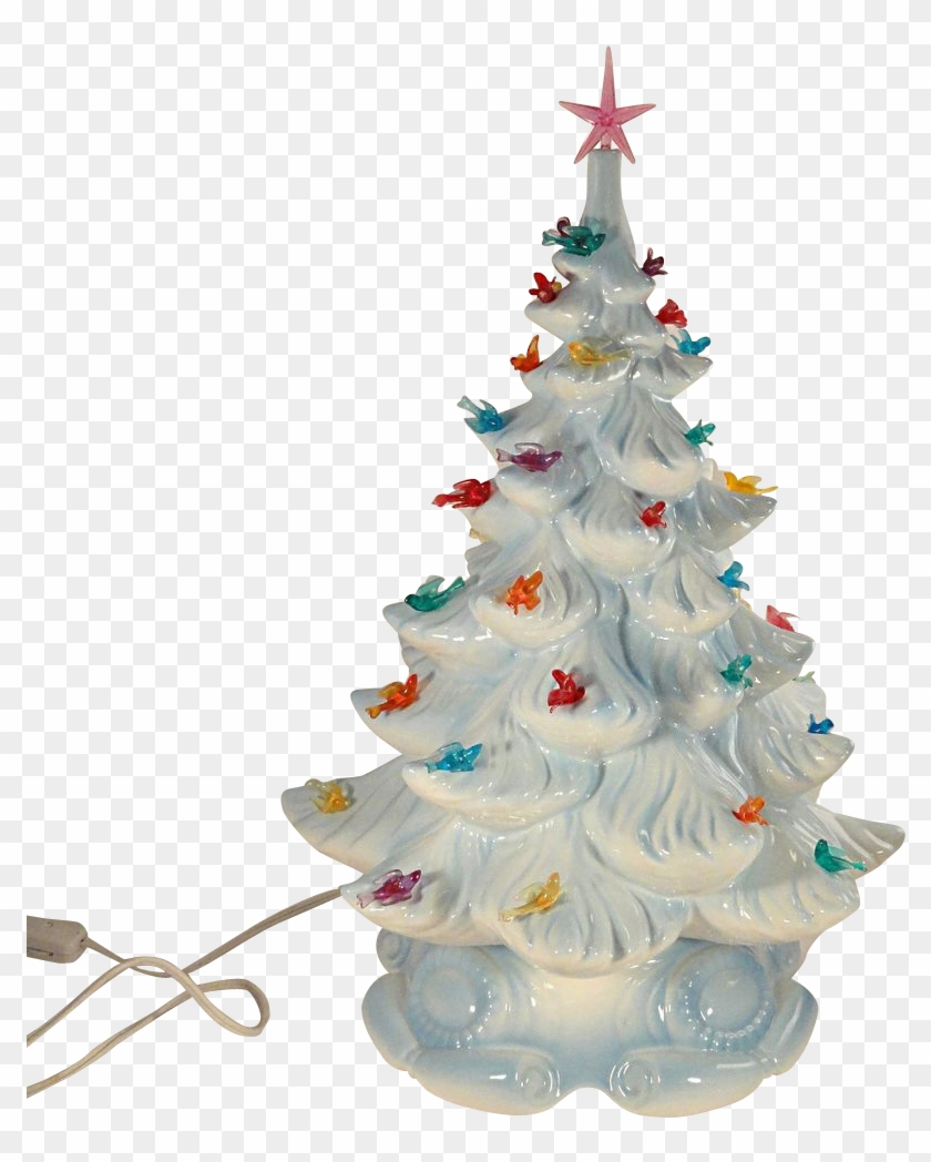 Astounding Image Of Decorative Electric White Winter White Ceramic Christmas Tree Free Transparent Png Clipart Images Download