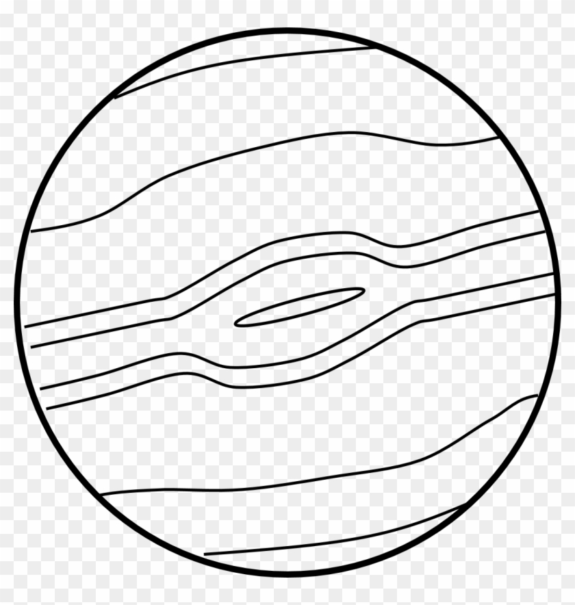 Jupiter Planet Clipart Pics About Space 2 Image - Planet Clip Art Black And White #1017461