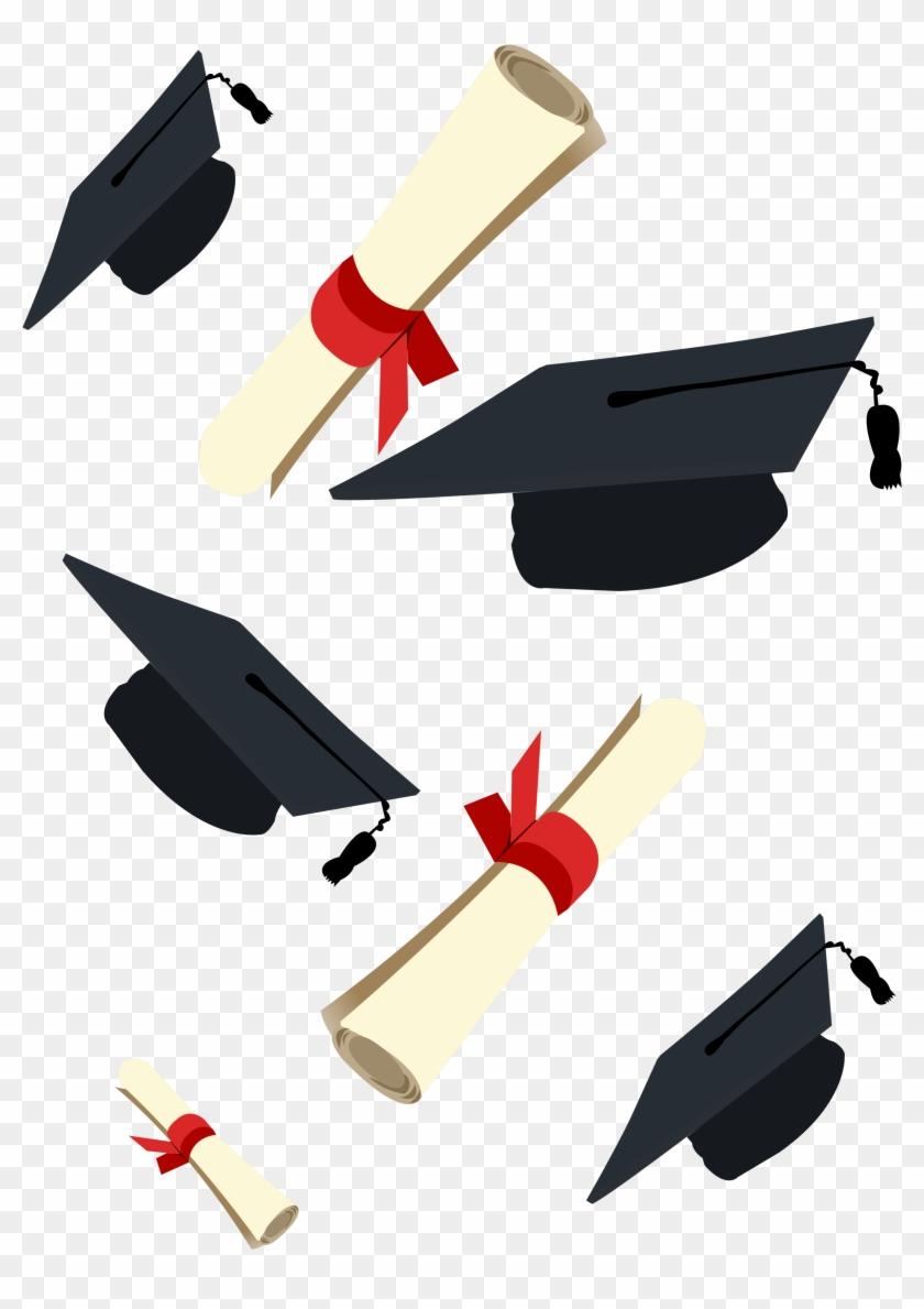 Graduation Ceremony Square Academic Cap Diploma Clip Diy
