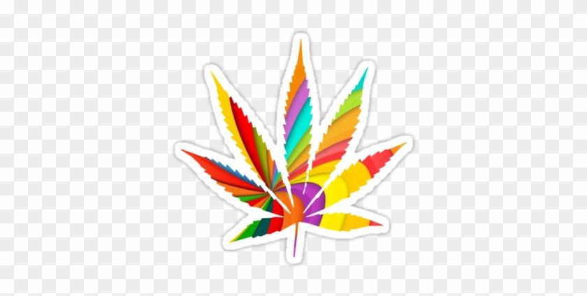 Psychedelic Weed Leaf Download - Marijuana Leaf Outline #1018114