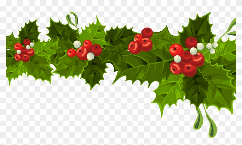 Pictures Of Christmas Decorations Clipart - Mistletoe Christmas Decoration #1019624