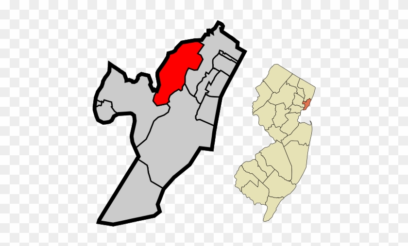 Location Of Secaucus Within Hudson County And The State - Secaucus Nj Located #1019728