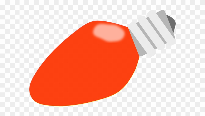 Christmas Tree Bulb Clipart - Red Christmas Light Bulb #1019840