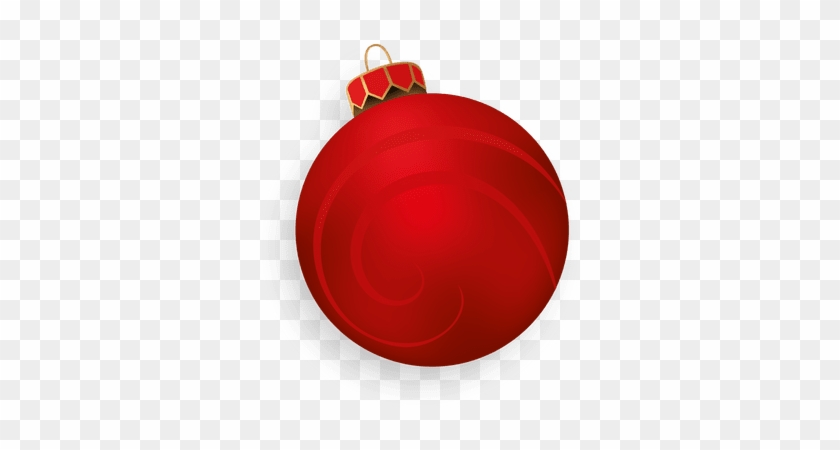 Red 3d christmas ball christmas ornament free transparent png