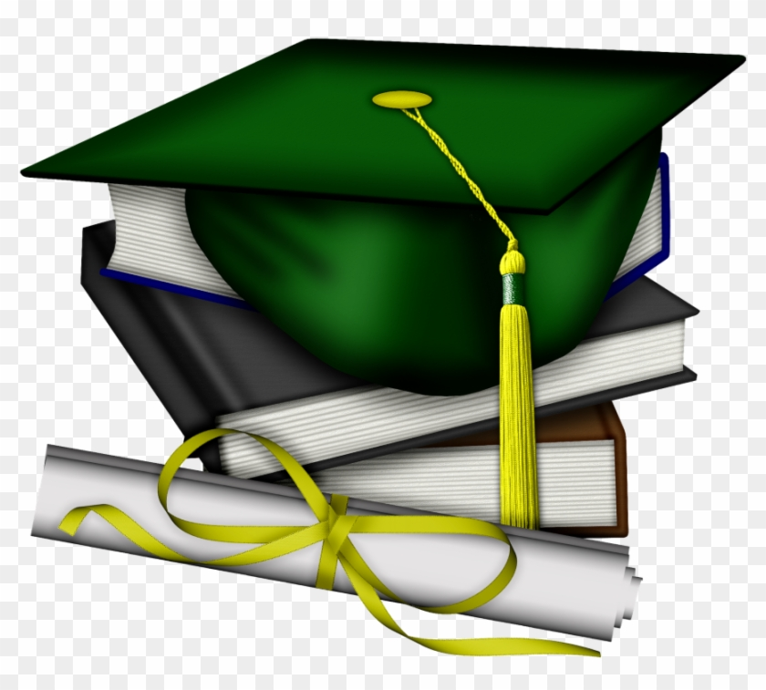 Graduation Clipart Green And Gold Hat John F Free Graduation Clip
