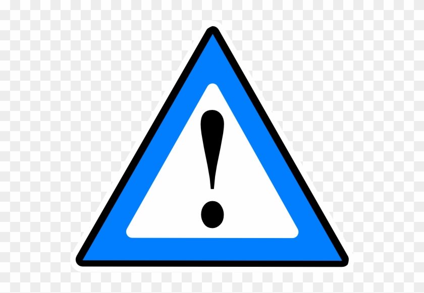 1 Guarded Risk Blue Clip Art At Clker - Attention Png #1020235