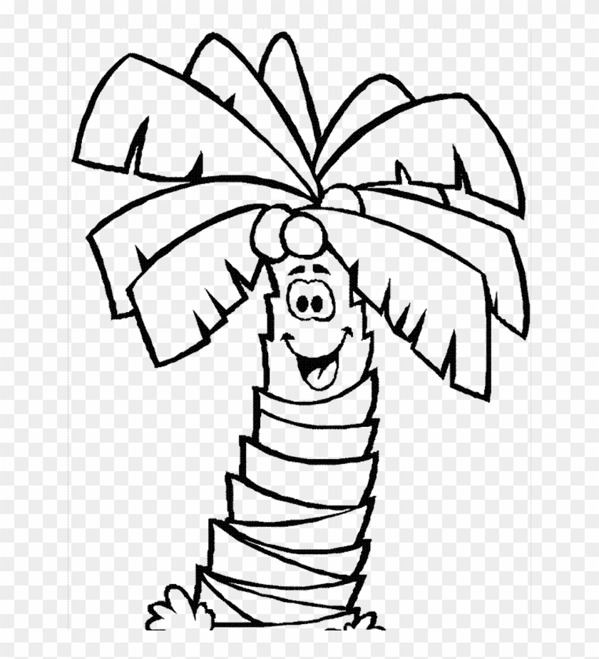 Coconut Tree Coloring Sheets Coloring Palm Tree Coloirng Page
