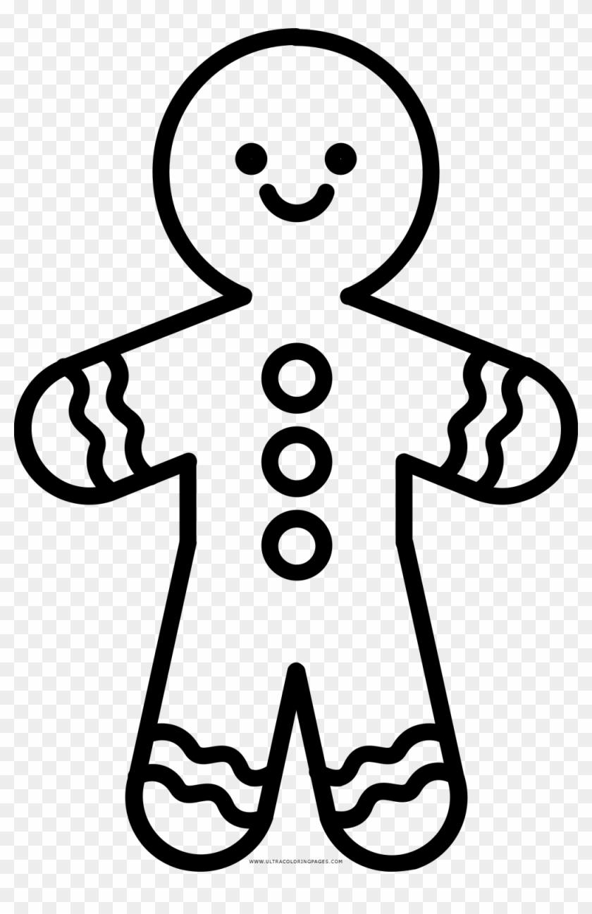 gingerbread cookie coloring page galleta de jengibre