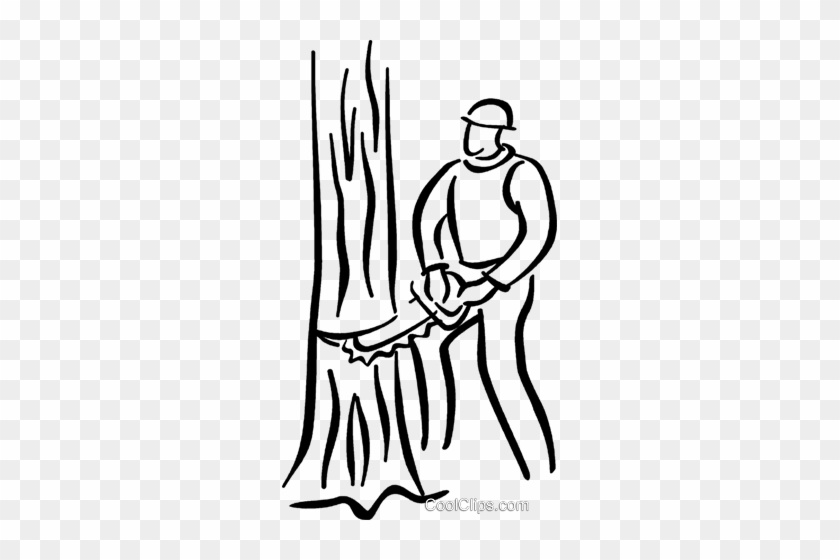 Cutting Trees Clipart Black And White Man Cutting Down A Tree Free Transparent Png Clipart Images Download