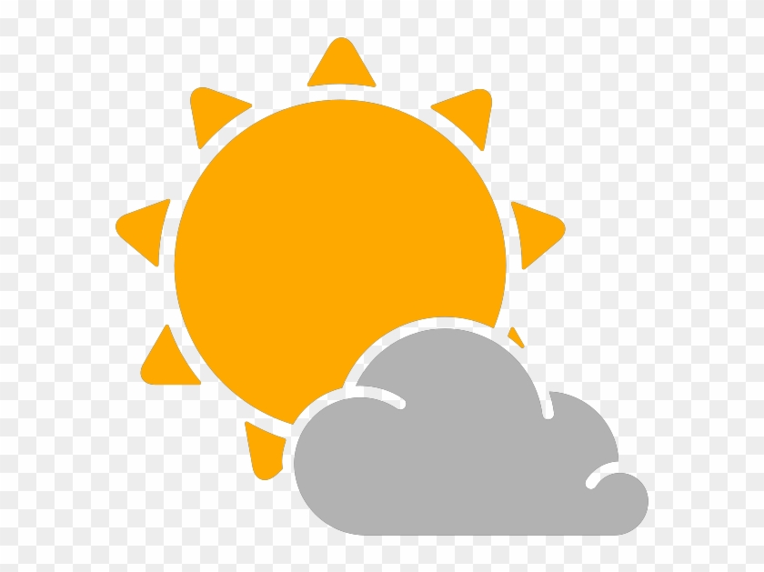 Rain Cloud Icon - Partly Cloudy Weather Icon #1020777