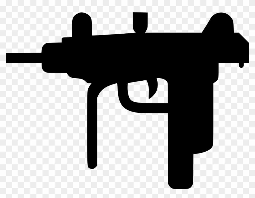 Uzi Gun Comments - Machine Gun Icon - Free Transparent PNG Clipart