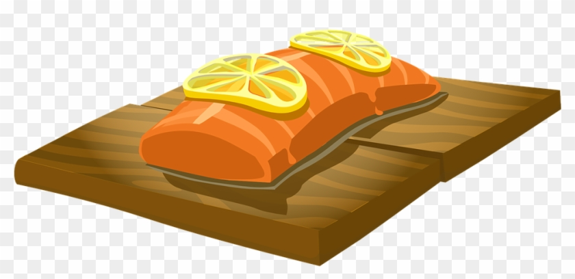 Baked Fish Vector - Smoked Salmon Clipart #1021341