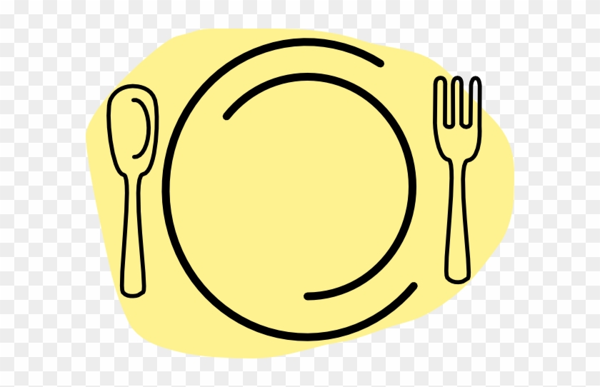 My3 Clip Art At Clker - Plate Spoon Fork Logo #1021796